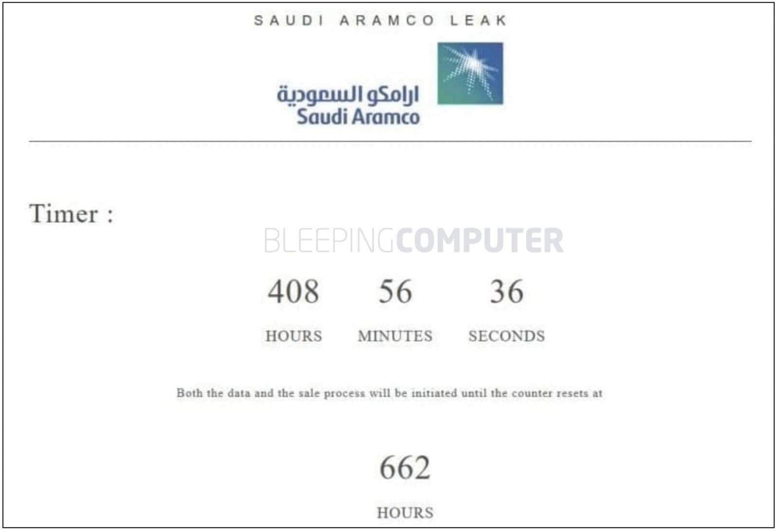 ticking timer saudi aramco