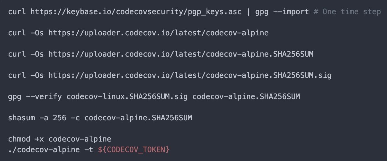 codecov new uploader
