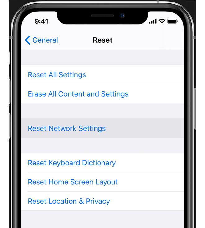 iphone reset wifi