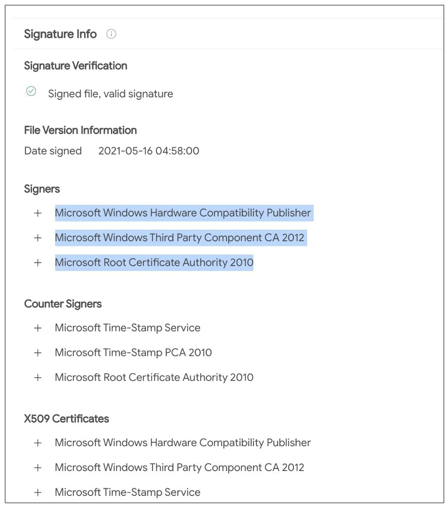 microsoft signs malicious netfilter driver
