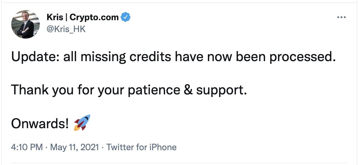 crypto.com ceo tweet