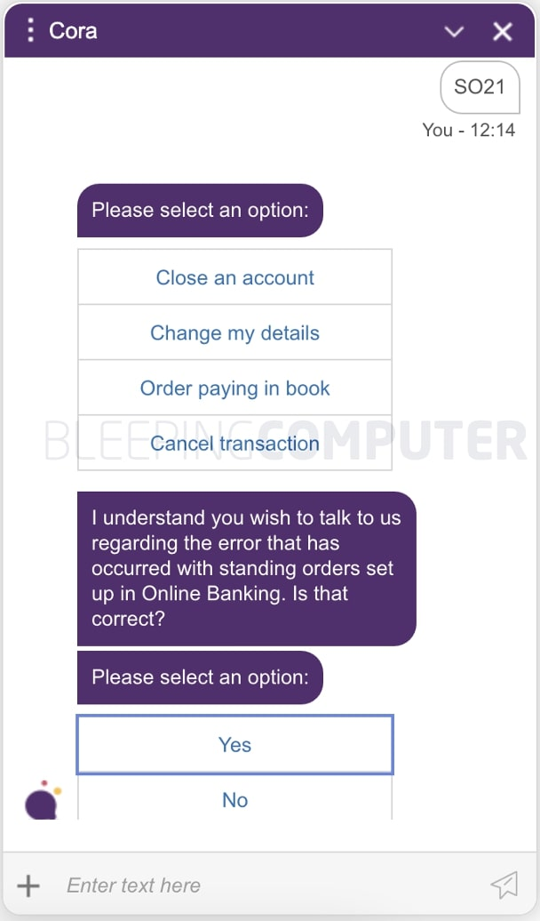 natwest cora chat