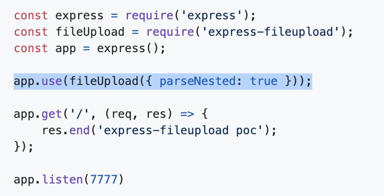 Express文件上传的脆弱配置