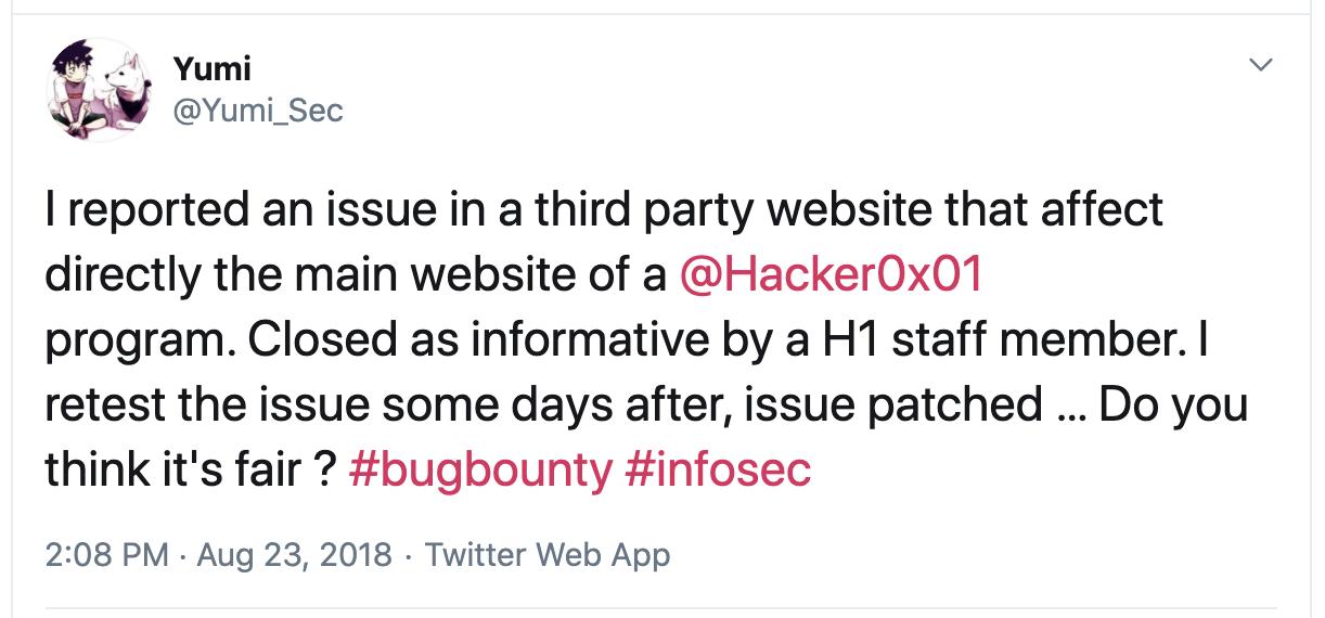 hackerone fixed vulnerability silently