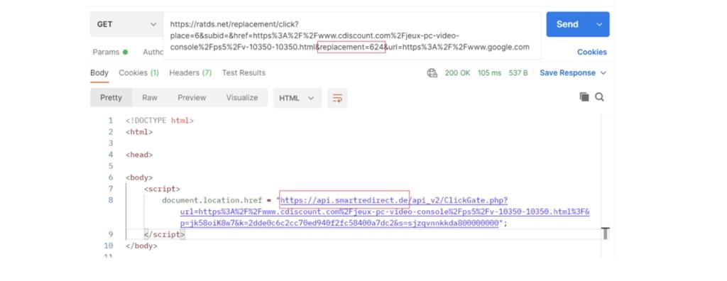 Komut dosyasındaki URL değişiklik kodu