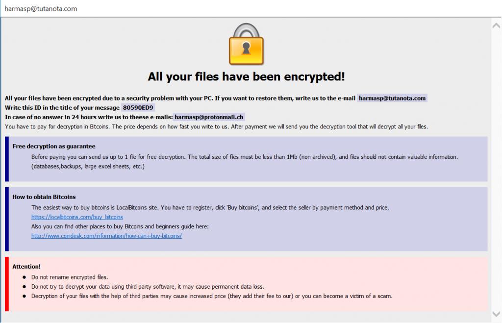 Fonix ransomware notice