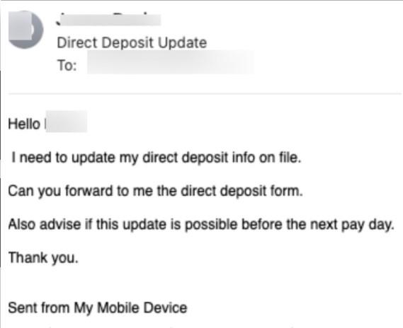 Kimlik avı e-postası