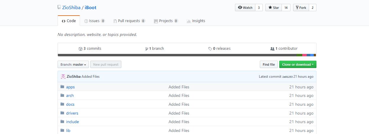 iBoot source code on GitHub
