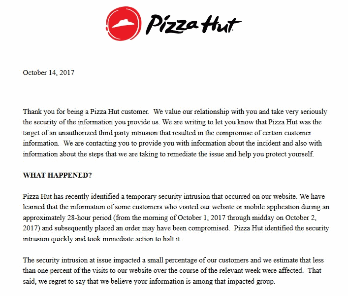 management information system pizza hut