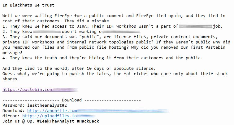 2nd batch of #LeakTheAnalyst files