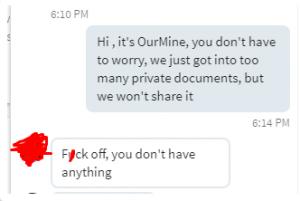 OurMine LinkedIn chat