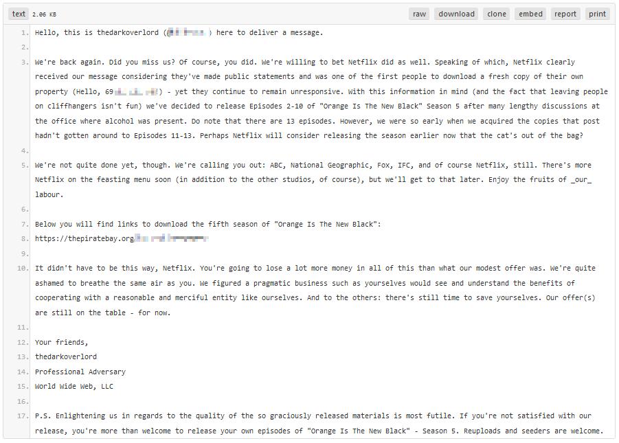 TDO statement