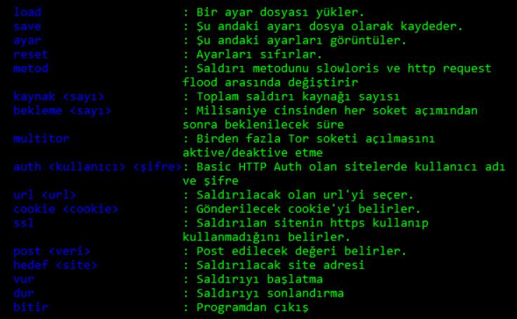 Balyoz DDoS tool CLI version