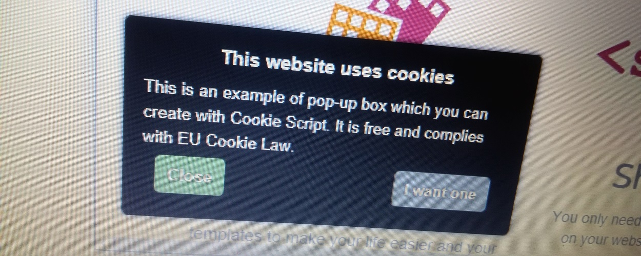 Cookie consent popup
