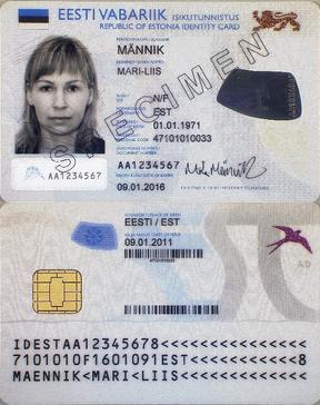 Estonian national electronic ID card