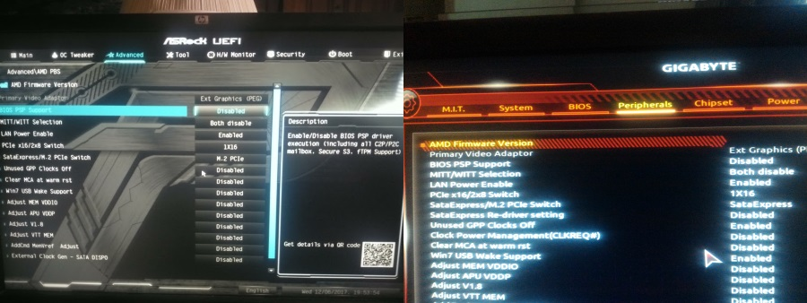 Option to disable AMD PSP component