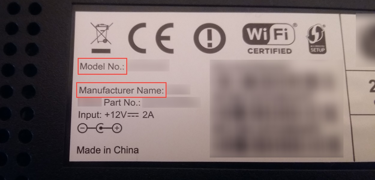 Router label
