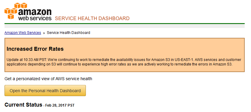 AWS Goes Down, and So Do Millions of Websites, Apps, and