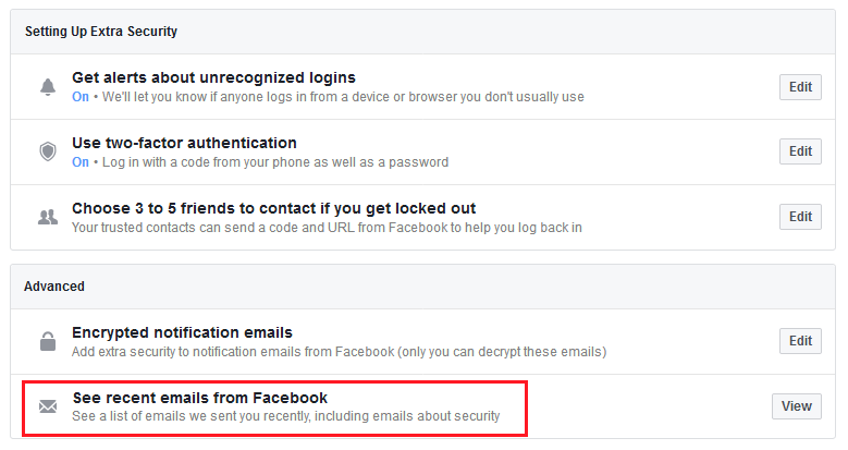 Facebook new anti-phishing feature