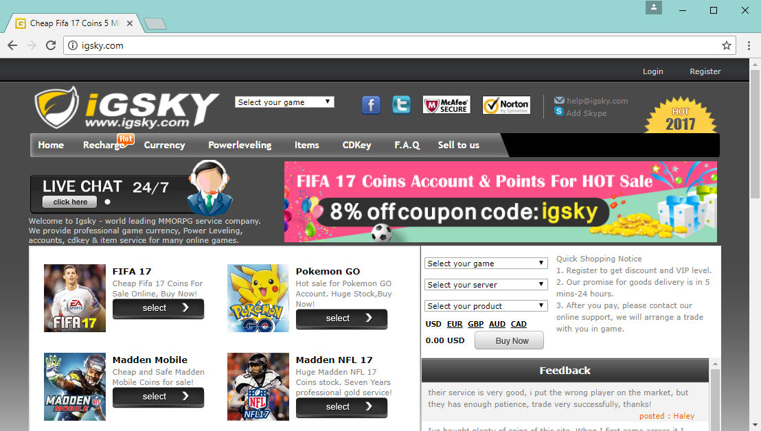 iGSKY website