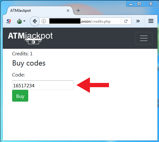ATMjackpot website
