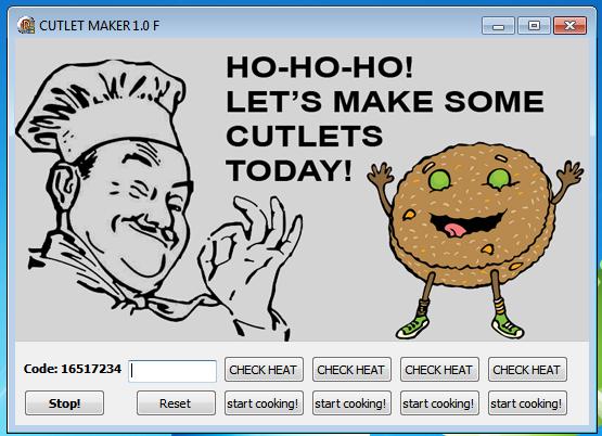 Cutlet Maker app GUI