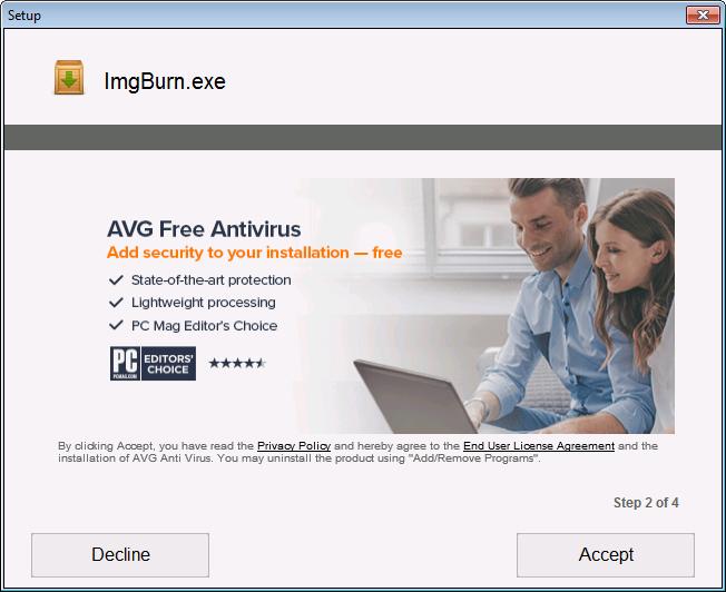 ImgBurn InstallCore adware