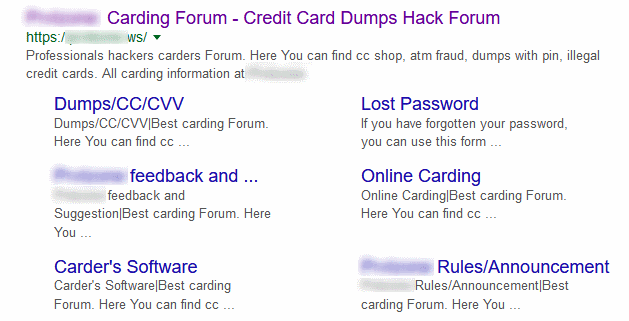 One of the carding forums hosted on this Fast Flux botnet