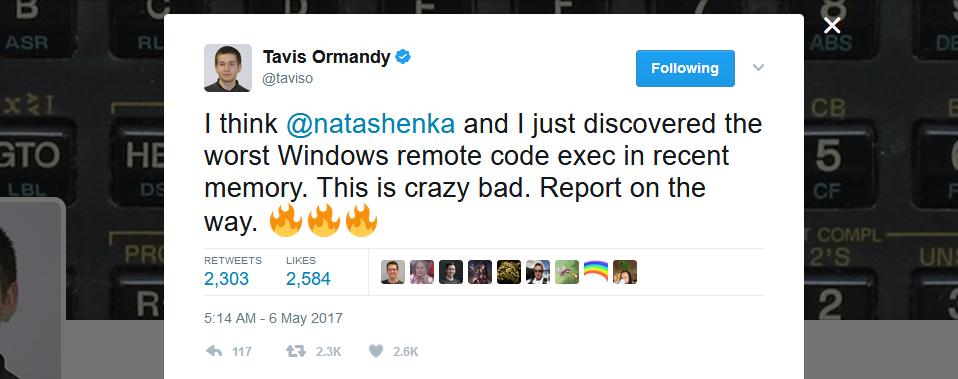 Ormandy tweet