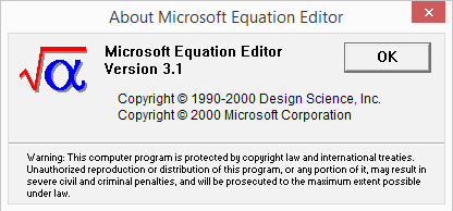 EQNEDT32 compilation date
