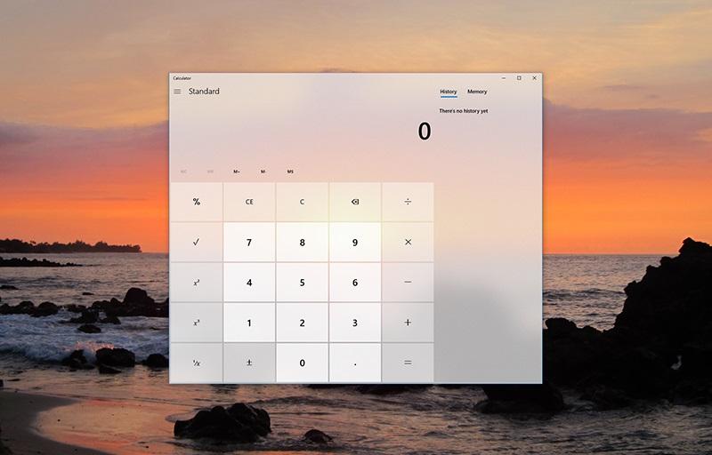 Fluent UI calculator