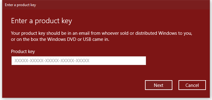 windows product key for windows 10 upgrade