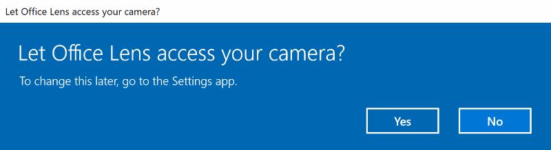 Windows 10 FCU app permissions prompt