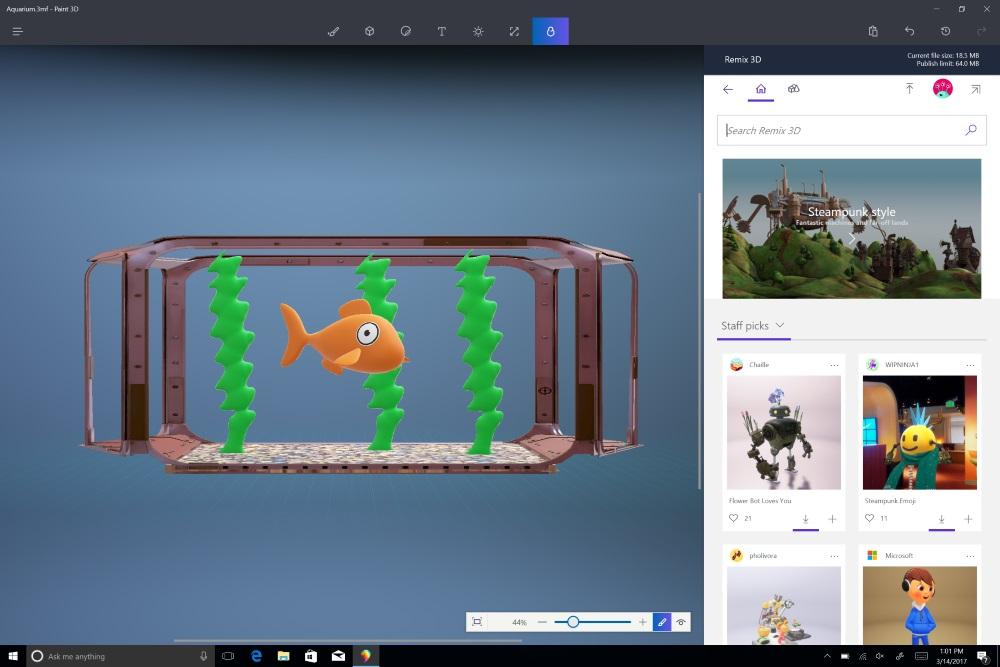 Paint 3D app