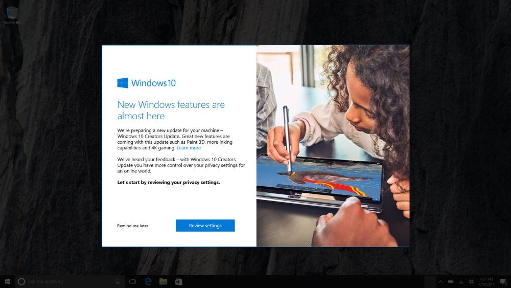 windows 10 update creators