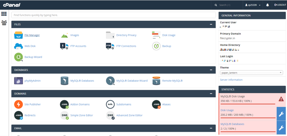 FileCrypter RaaS Cpanel