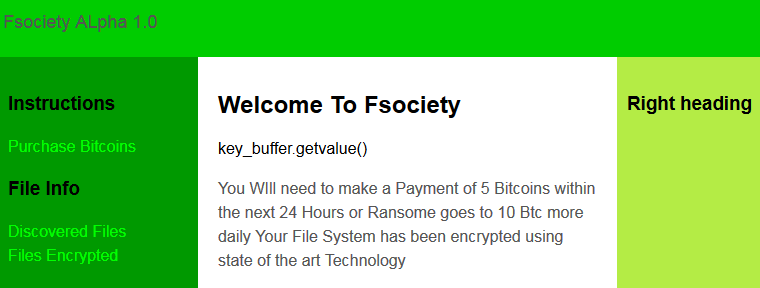 Second FSociety ransomware