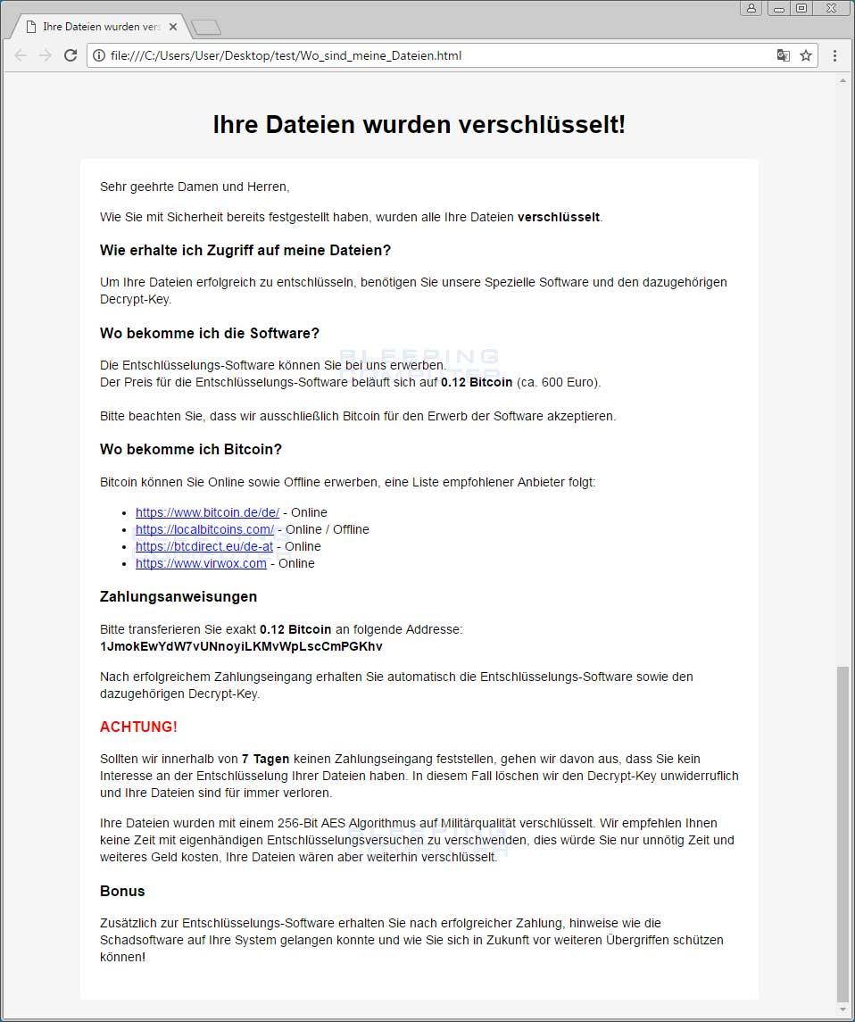 HSDFSDCrypt ransom note