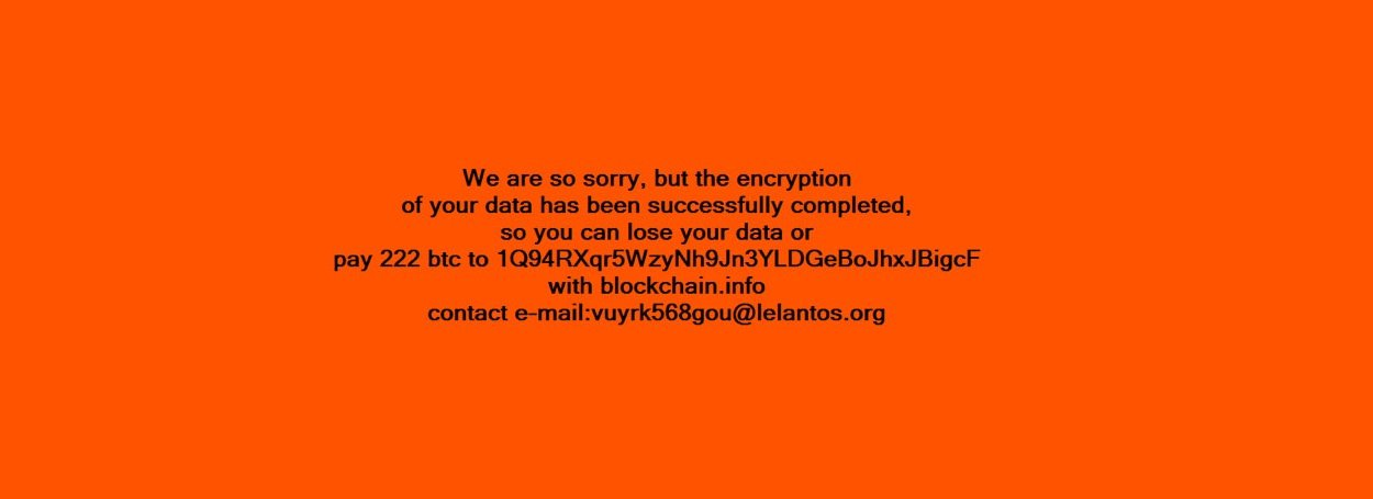 KillDisk ransom note
