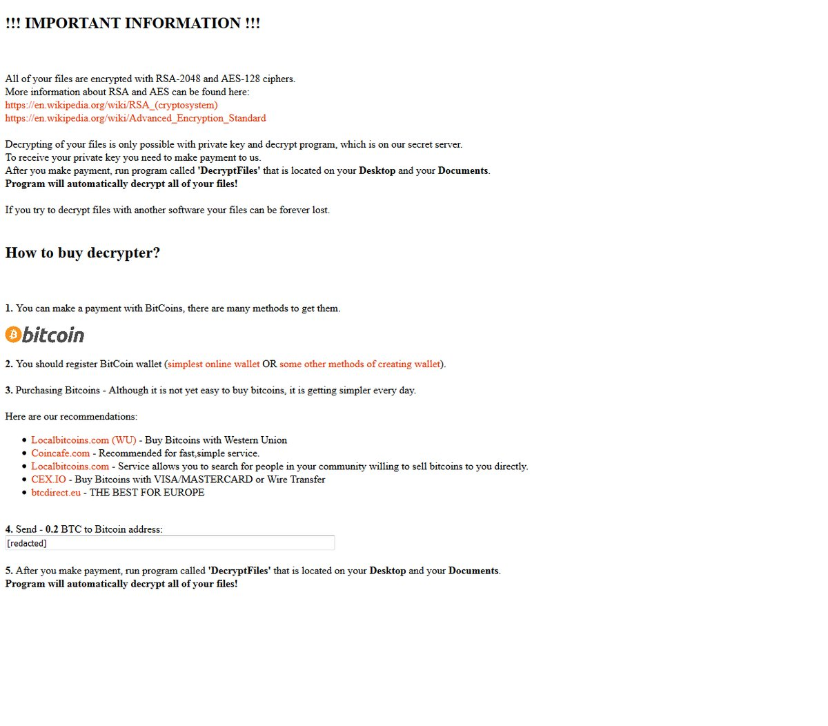 Marlboro ransomware ransom note
