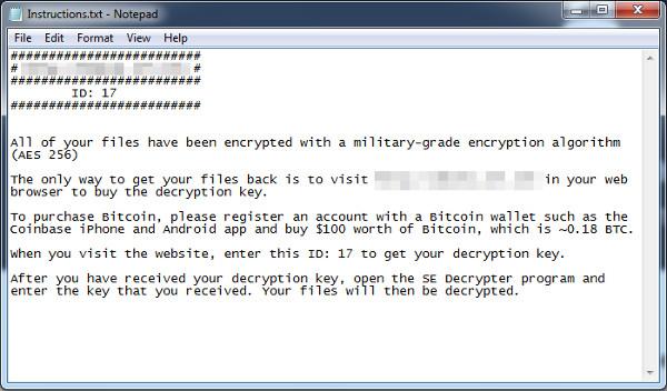 Netix ransom note