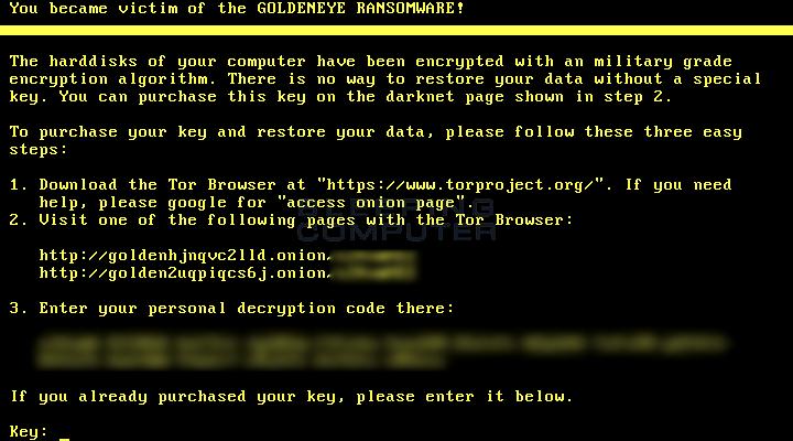 Petya boot-level ransom note