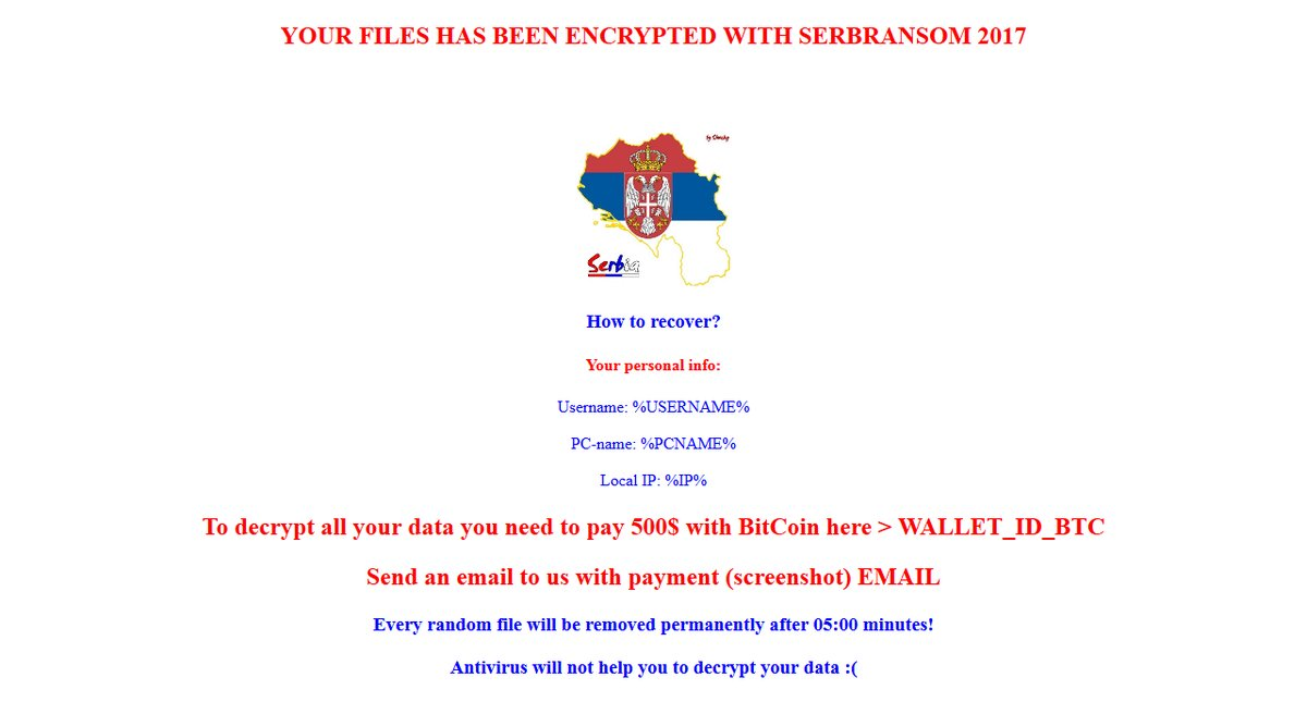 SerbRansom ransom note