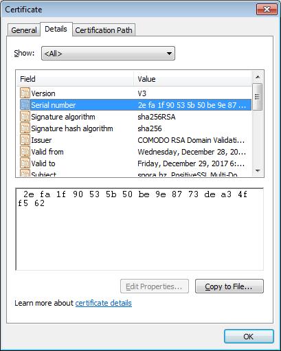 Comod SSL certificate