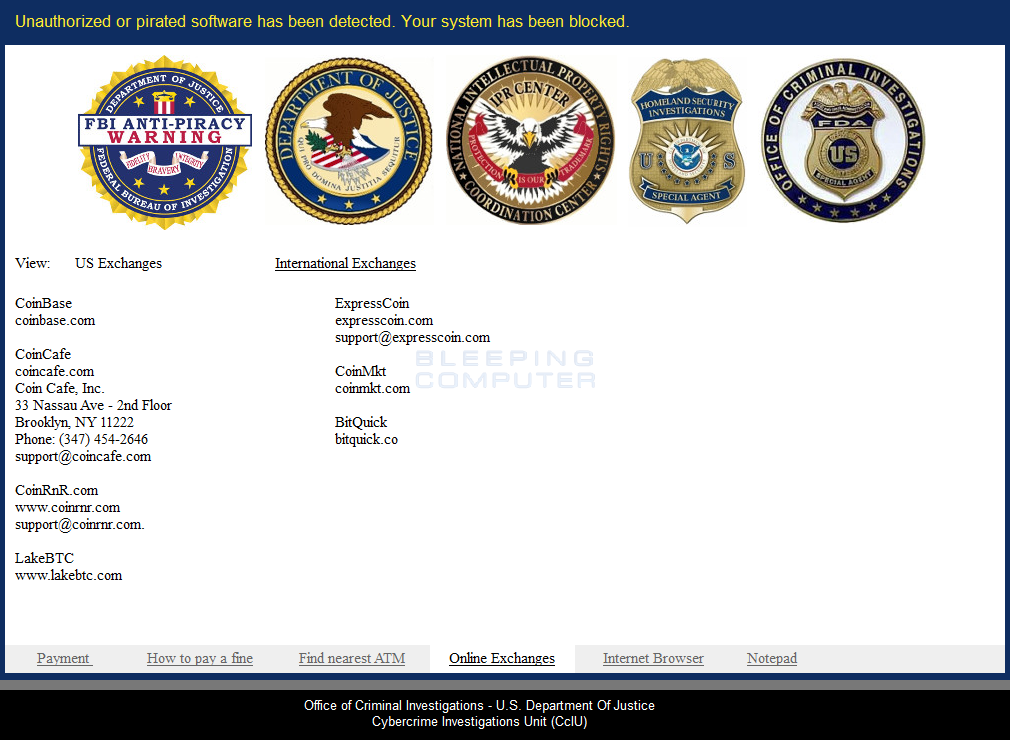 VirLocker ransom screen