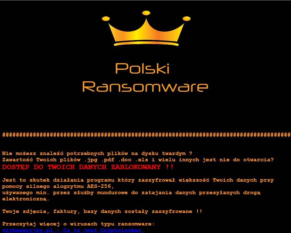 Polski HTML ransom note