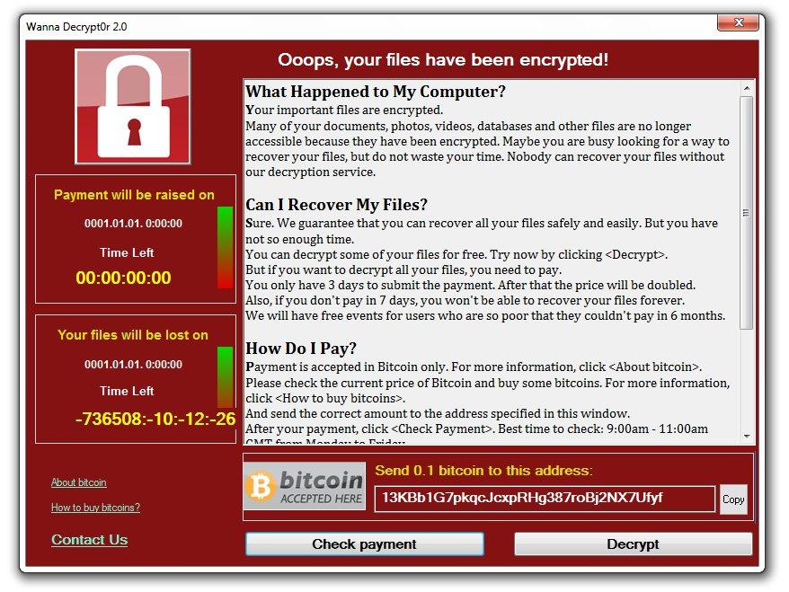 WannaCry clone ransom note